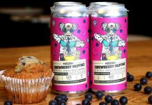 beer made with blueberry muffin