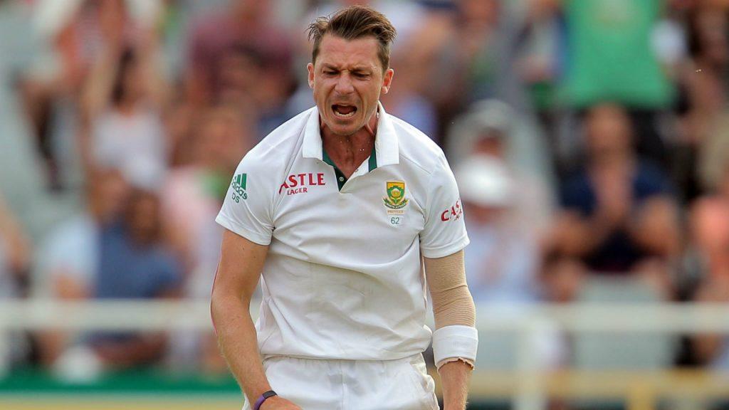 Dale Steyn in action in Test cricket