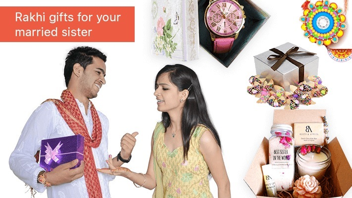 rakhi gifts for married sisters