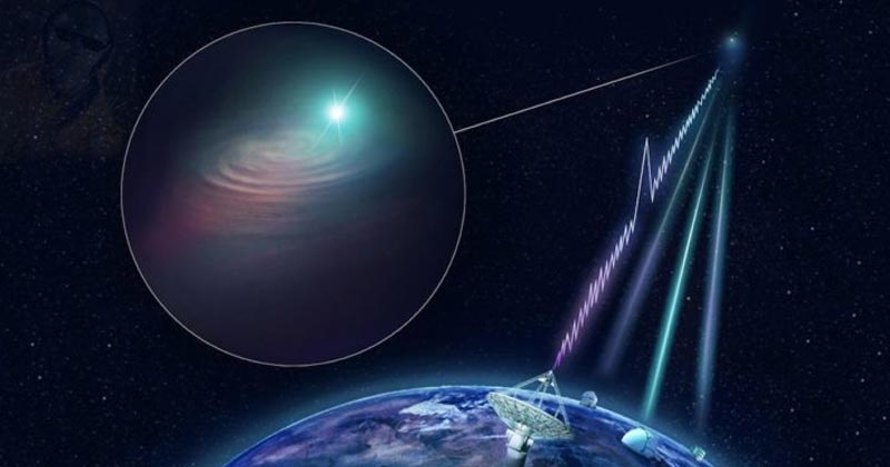 Giant telescope receives mysterious radio waves