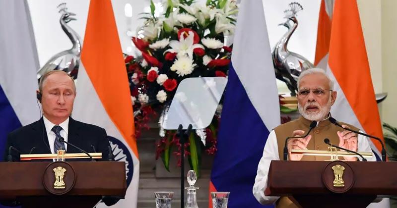 Narendra Modi and Vladimir Putin