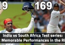 Sehwag 319 and sachin 169 vs South Africa
