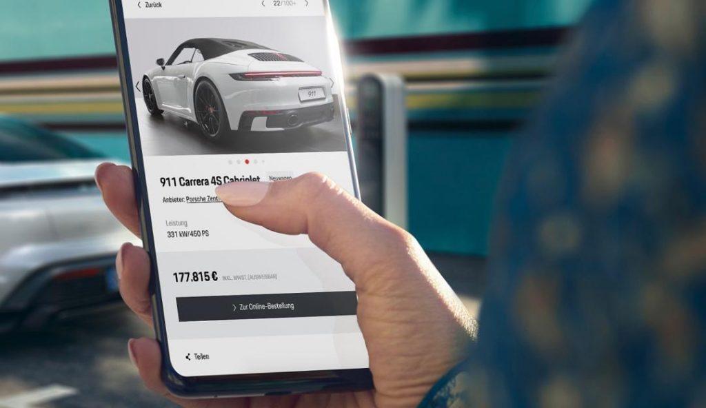 Porsche is selling online
