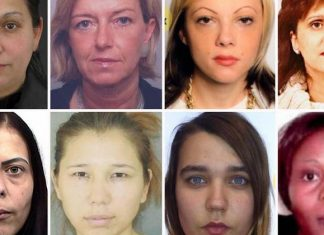 Europe most wanted women