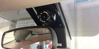 Surveillance camera in dubai taxis