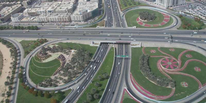 Best Roads In Dubai. Dubai Roads Infrastructure
