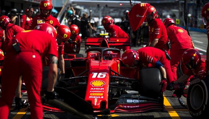 Focus on Ferrari engine