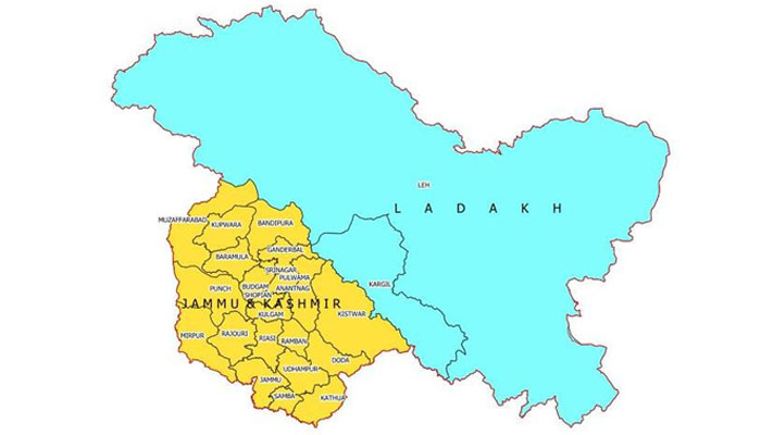 New Political map of J&k and Ladakh