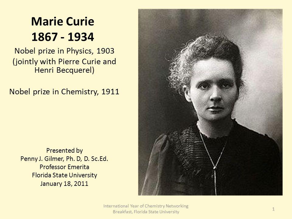 Nobel Prize Winner Marie Curie
