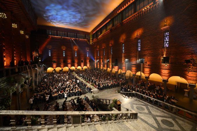 Nobel Prize ceremony.