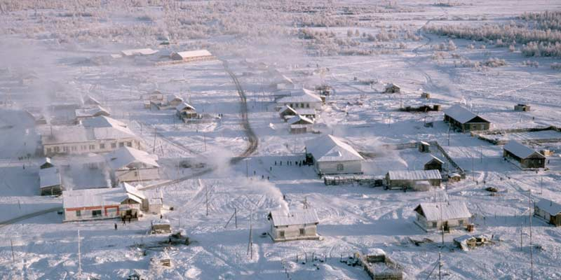 Oymyakon Siberia, Earth's coldest places