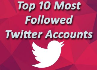 Top 10 Most Followed Twitter Account