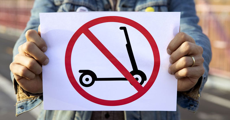 Electric scooters are banned