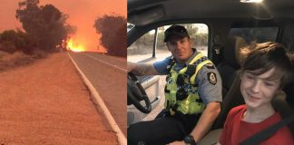 12-year-old boy drives truck to flee Australian bushfire with dog