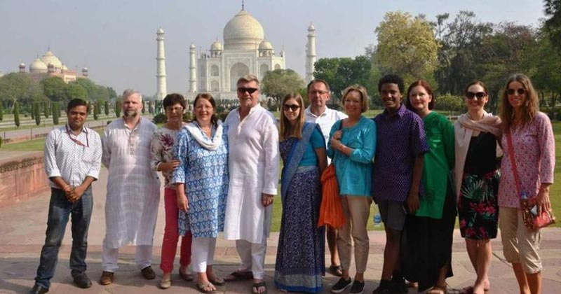 Foreign tourist in india