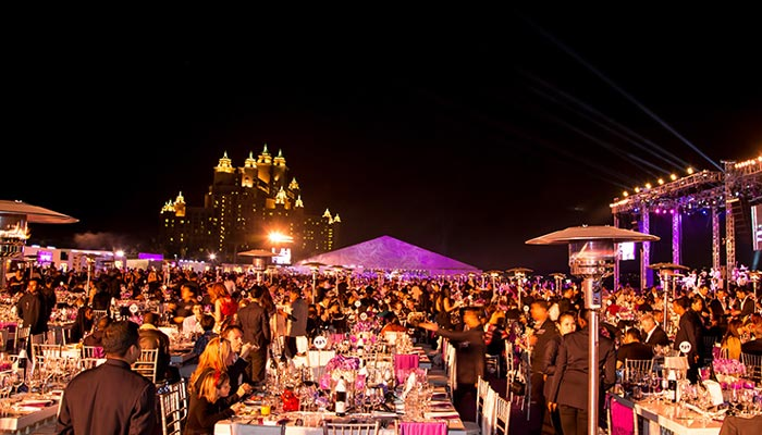 Gala evening on new year in dubai