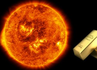 How much gold is there in the sun