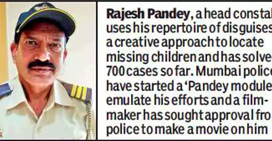 Mumbai cop who solved 700 missing persons case