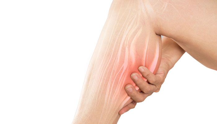 Muscle cramp due to magnesium deficiency