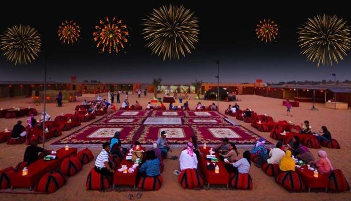 New Year's desert safari in dubai