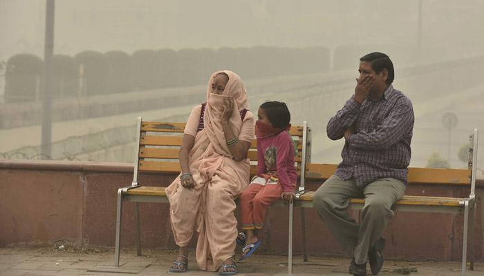 Pollution level in delhi