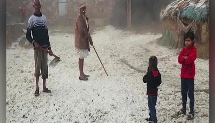 Snowfall in Rajasthan