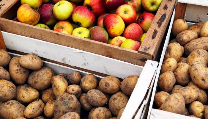 Store potatos with apples