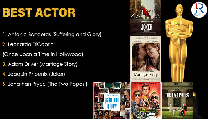 Best Actor Oscar 2020 Nominations