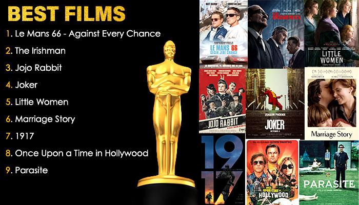 Best Films Oscar 2020 Nominations