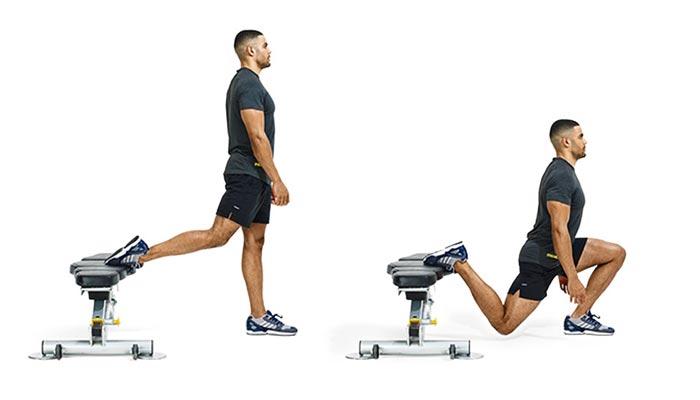 Bulgarian knee squat