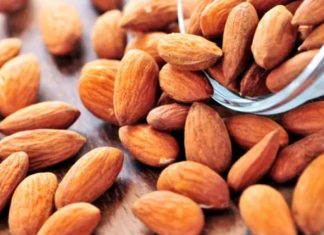 Different types of almonds