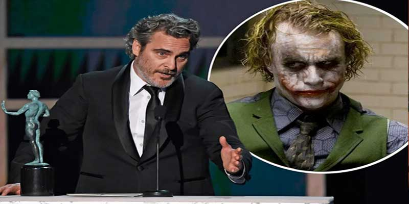 Joaquin Phoenix paying tribute to Heath Ledger