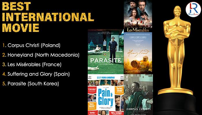 Oscar Nominations 2020 For Best International Movie