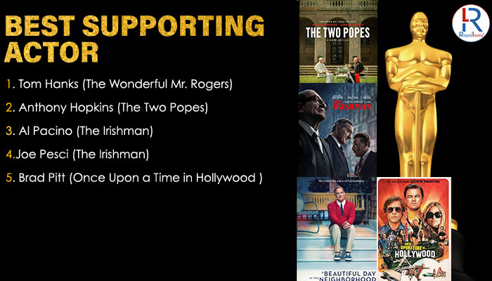 Oscar 2020 Nominations  for  BEST SUPPORTING ACTOR