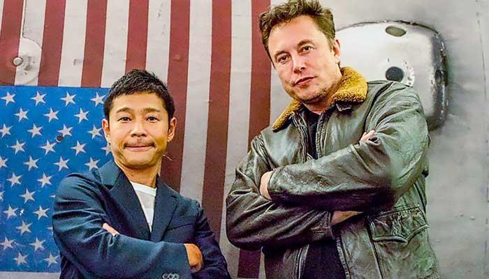 Yusaku Maezawa and Elon Musk