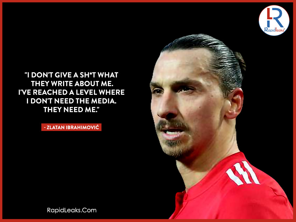 Zlatan Ibrahimović Quotes 1 - RapidLeaks