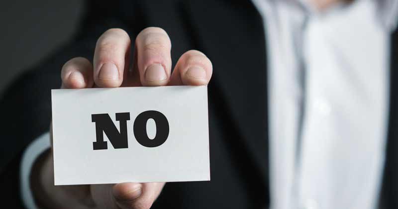 Benefits Of Saying No