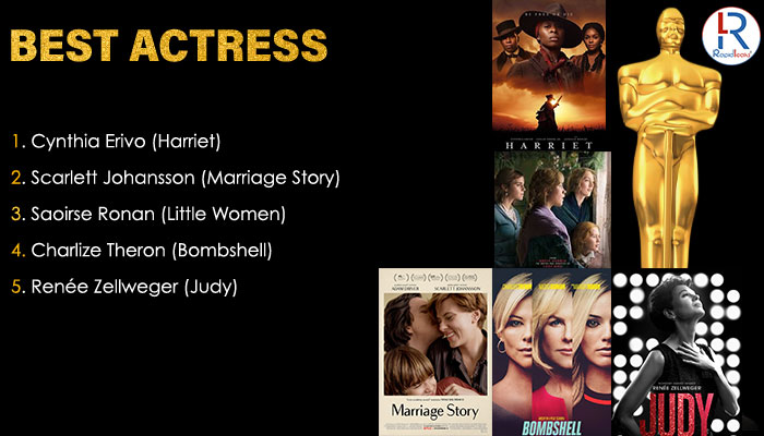 Best Actress Oscar 2020 | Oscar 2020 Nominations