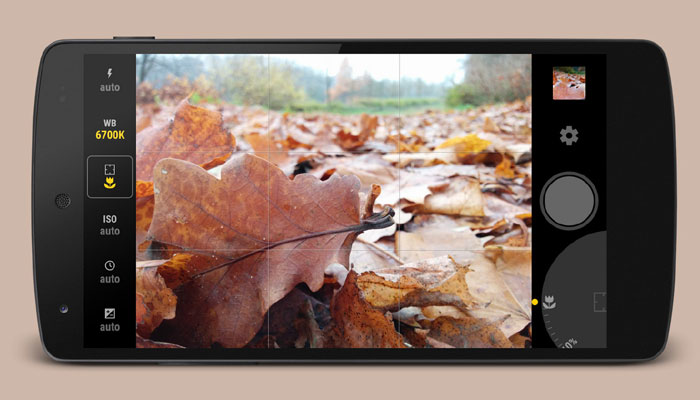 exposure setting in smartphone