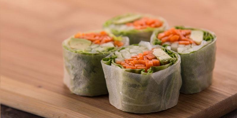 Vegan Food Dim sum Rolls