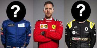 Carlos Sainz Sebastian Vettel Daniel Ricciardo