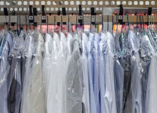 How is dry cleaning done