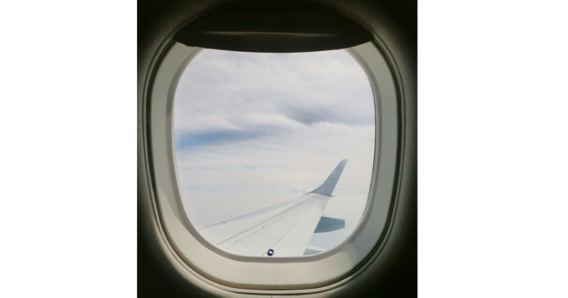 Hole In Airplane Window
