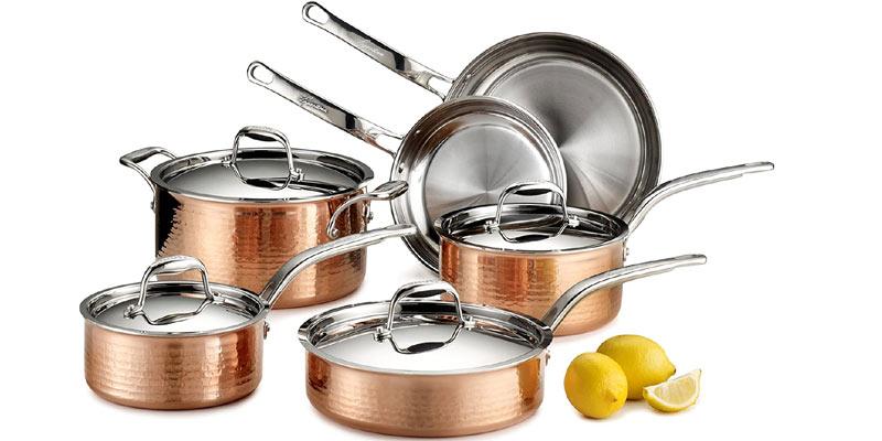 Lagostina Martellata Hammered Copper Cookware