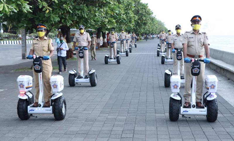 Mumbai Police Electric Segway Scooters