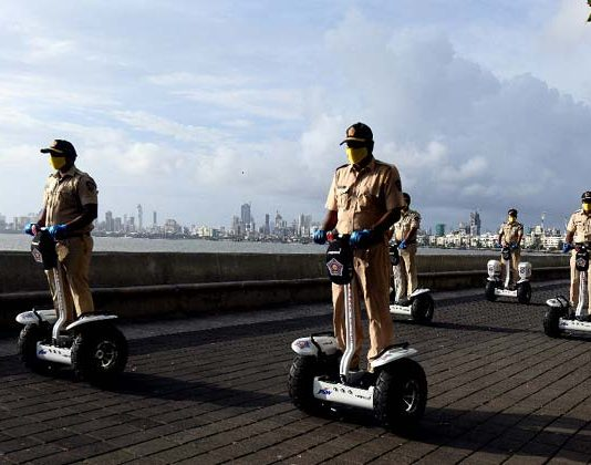 Mumbai police force electric scooters