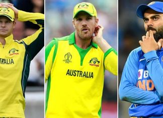 Steve Smith Aaron Finch Virat Kohli