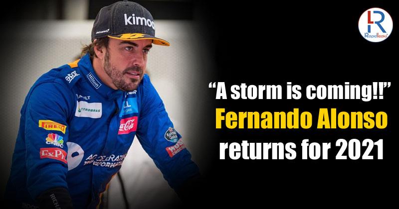 Fernando Alonso Returns for 2021