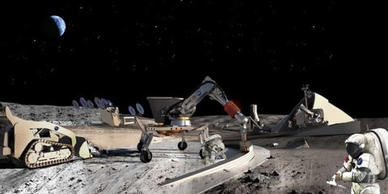 Moon Base Construction Machines