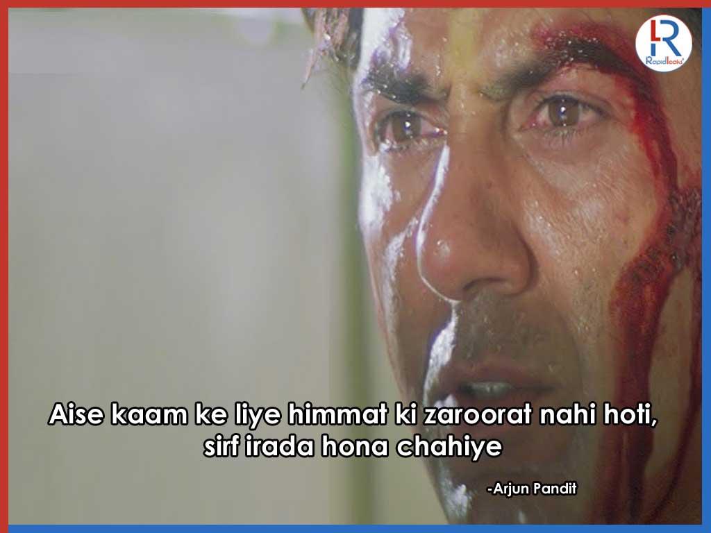 Sunny Deol Dialogues in Arjun Pandit